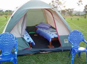 Lazy camping option at The Haven