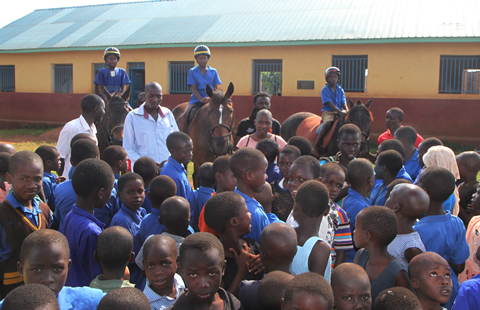 Kiira Primary Kids on Horseback